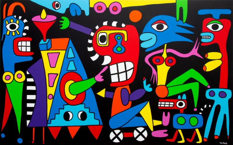 Follow your dream, painting in commission for permanent collection of the Danubiana museum 250cm x 150cm
