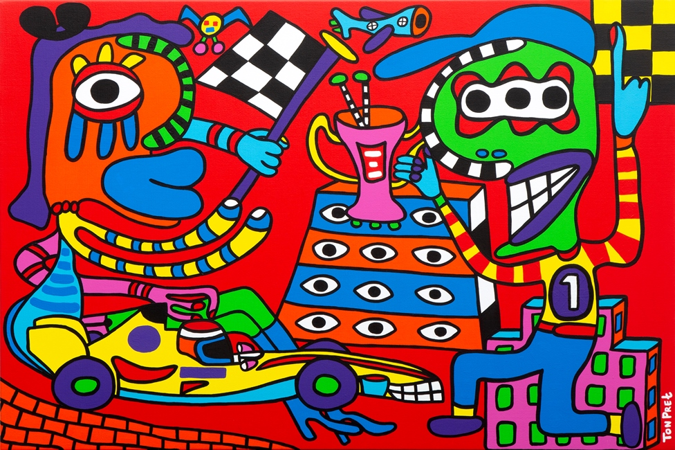 The road to glory 120cm x 80cm acrylic on canvas