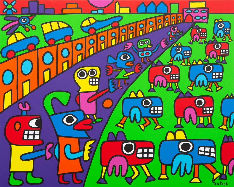 We are all on our way 100cm x 80cm acrylic on canvas