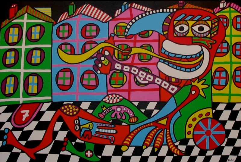 Daddy is coming home 160cm x 120cm acrylic on canvas SOLD