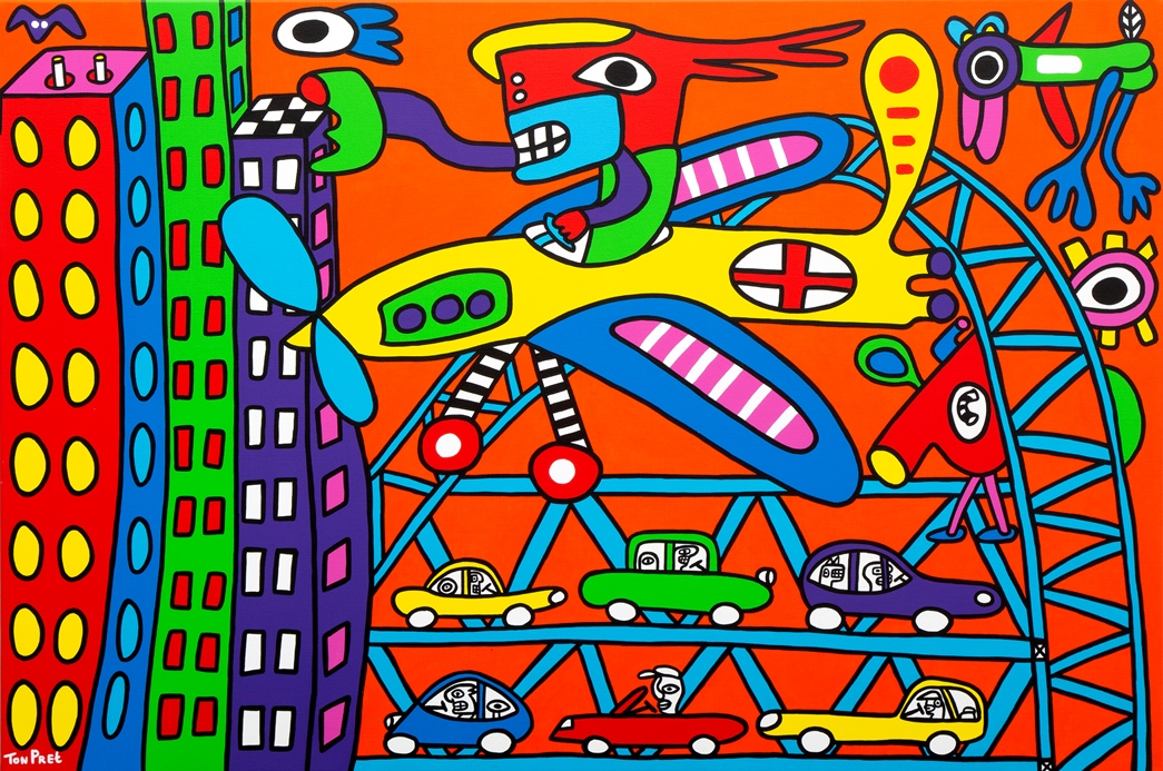 Escape from the city and feel free 150cm x 100cm acrylic on canvas