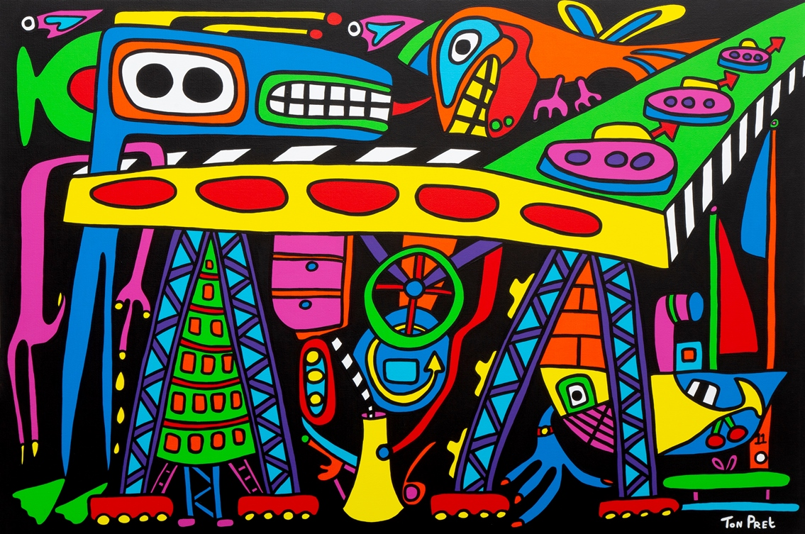 Monster in the green heart 150cm x 100cm acrylic on canvas