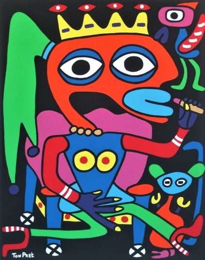 The princess doing her make-up 80 x 100cm SOLD