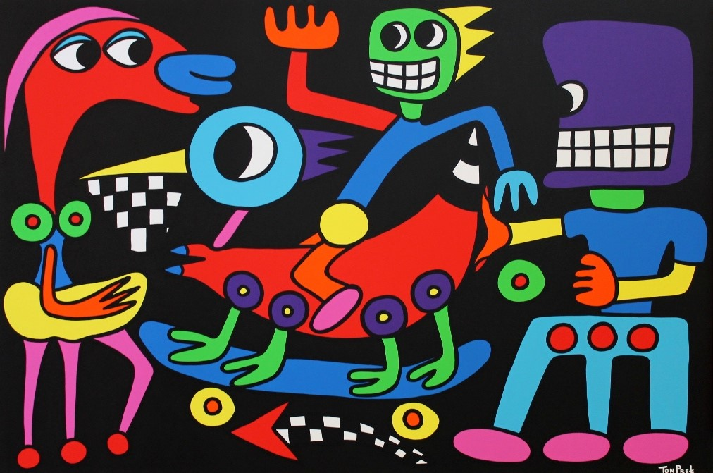Always push in the right direction 150cm x 100cm acrylic on canvas