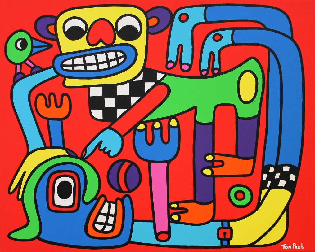 Sometimes you have to fight but don't be nasty 100cm x 80cm acrylic paint on canvas