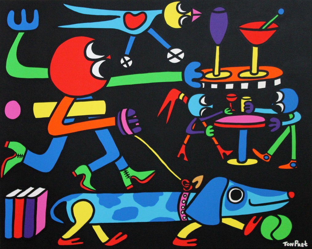 Friends forever 100cm x 80cm acrylic on canvas SOLD