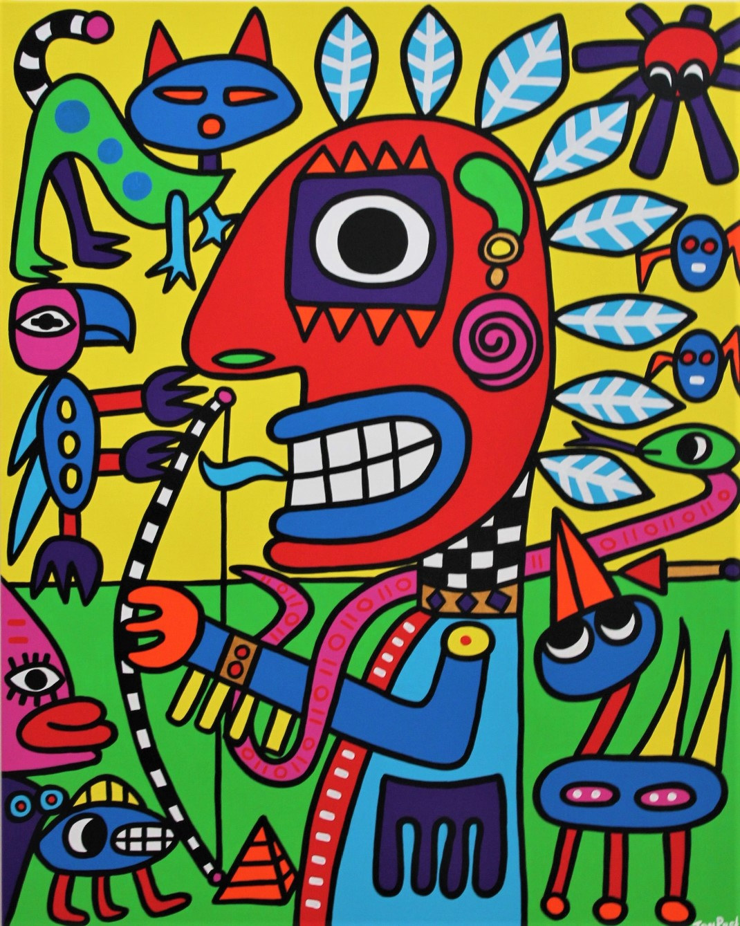 In commission for editor in chief Pravda, Indian Dream acrylic on canvas 80cm x 100cm SOLD