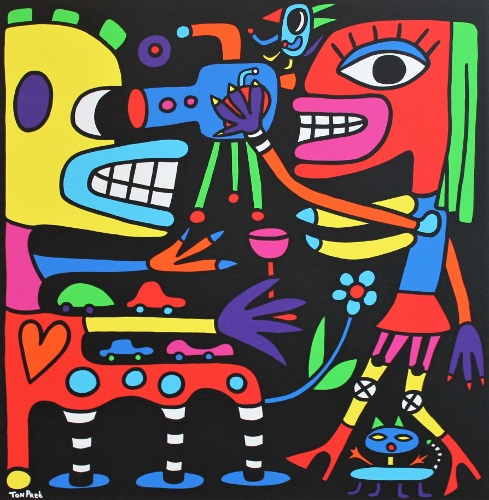 Close to you 100cm x 100cm acrylic on canvas
