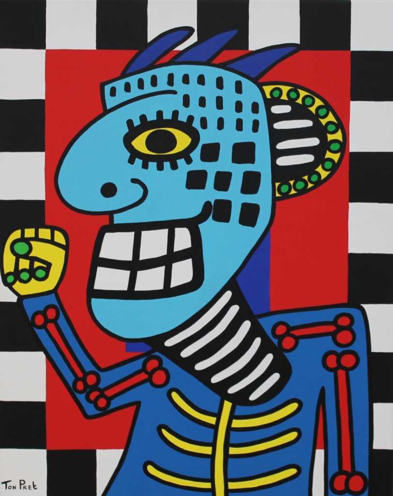 Make a fist acrylic on canvas 80cm x 100cm