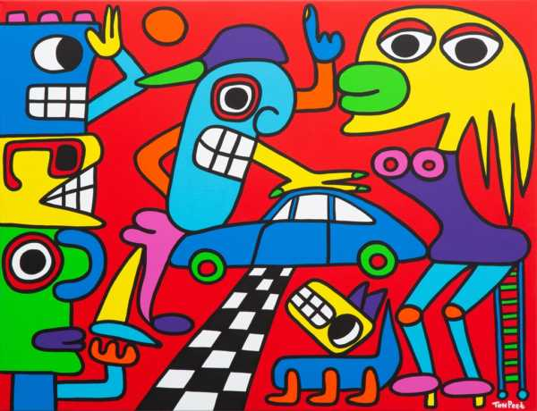 Porsche 911 emotion 116cm x 89 cm acrylic on canvas