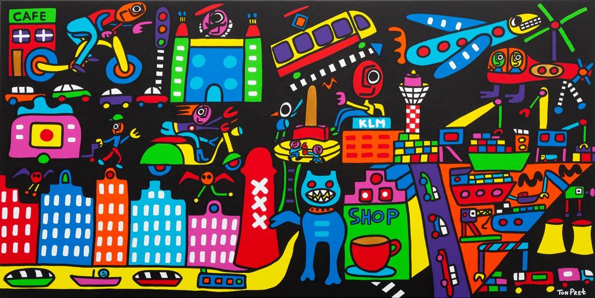 Amsterdam 160cm x 80cm acrylic on canvas