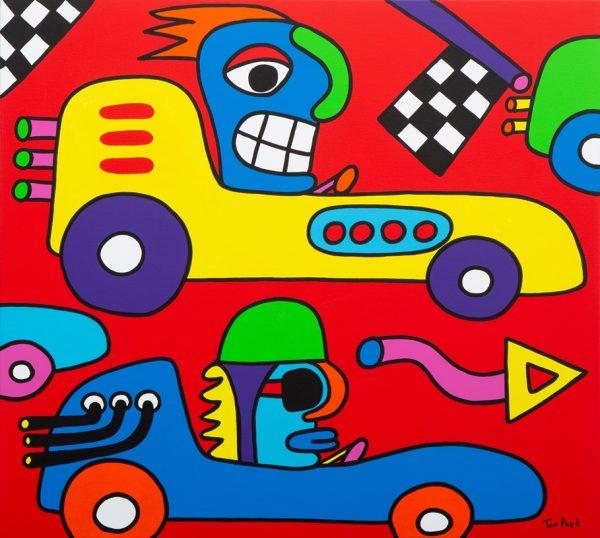 Grab your challenge 100cm x 90cm acrylic on canvas