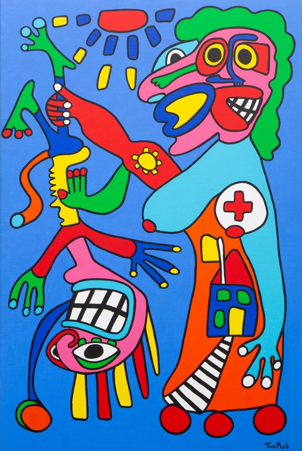 Mothercare Florence Nightingale 100cm x 150cm acrylic on canvas