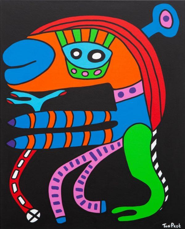 Mrs. Jones 80cm x 100cm acrylic on canvas