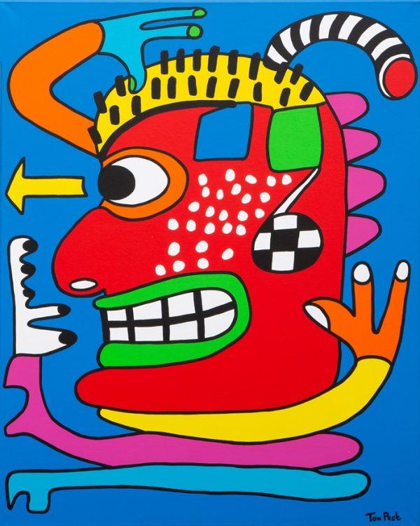 Source of inspiration 80cm x 100cm acrylic on canvas