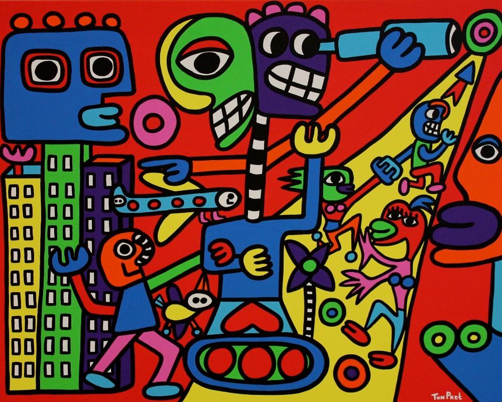 Unbusual acrylic on canvas 100cm x 80cm