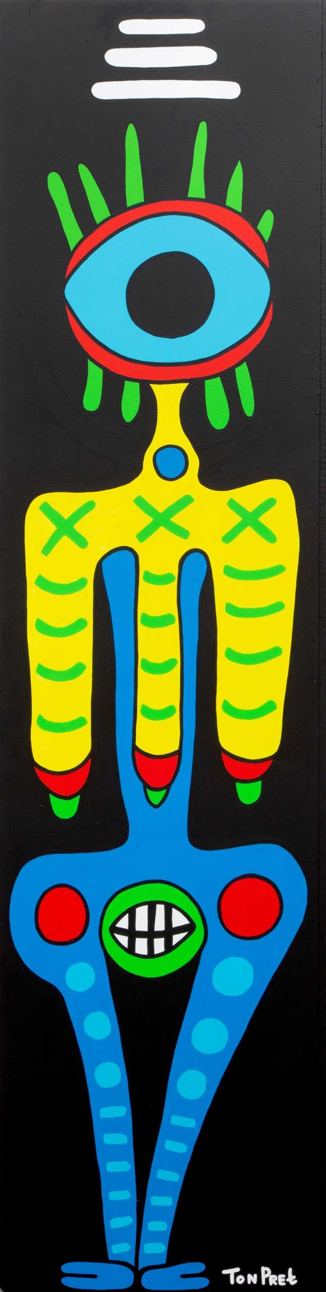Woman in the mirror ca 63cm x 245cm acrylic on wooden panel