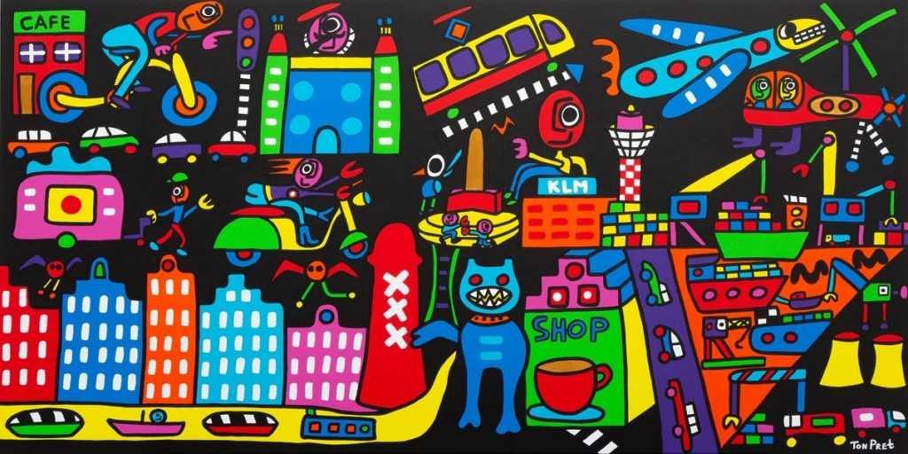 Amsterdam 160cm x 80cm acrylic paint on canvas