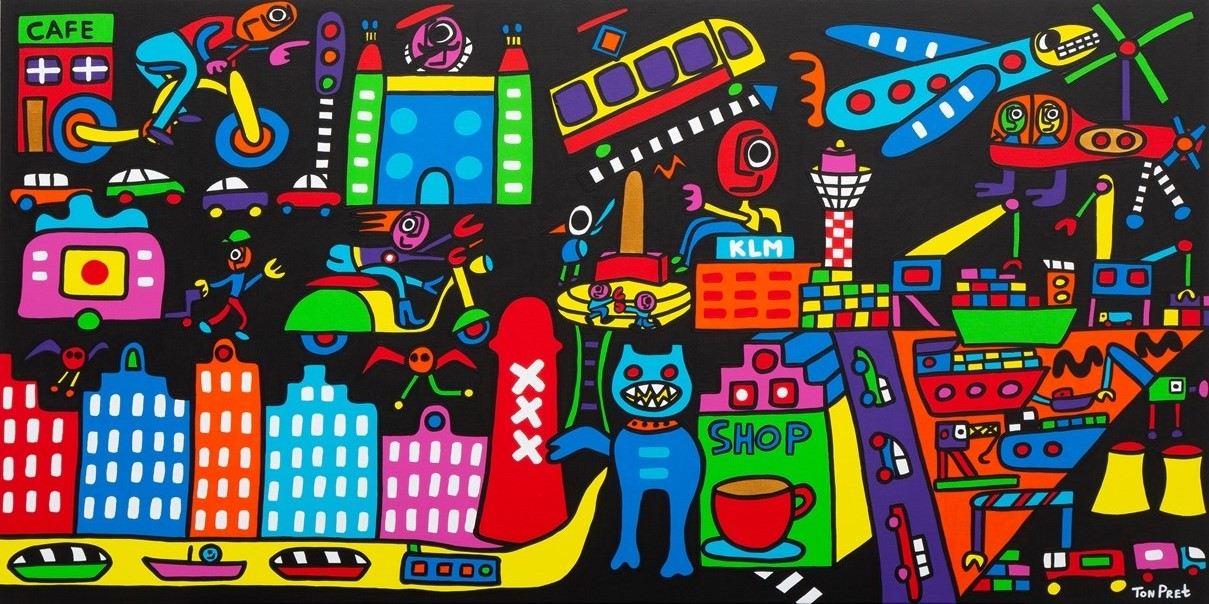 Amsterdam 160cm x 80cm acrylic paint on canvas