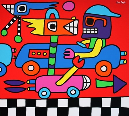 Chasing cars 100cm x 80cm acrylic on canvas SOLD