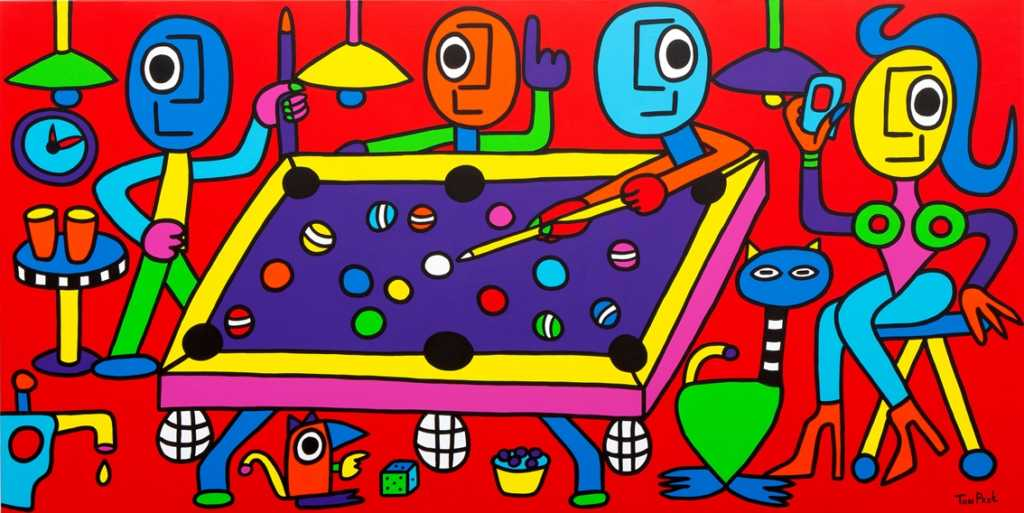 Chilling with friends 160cm x 80cm acrylic on canvas