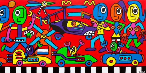 Feeling like James Bond 160cm x 80cm acrylic on canvas