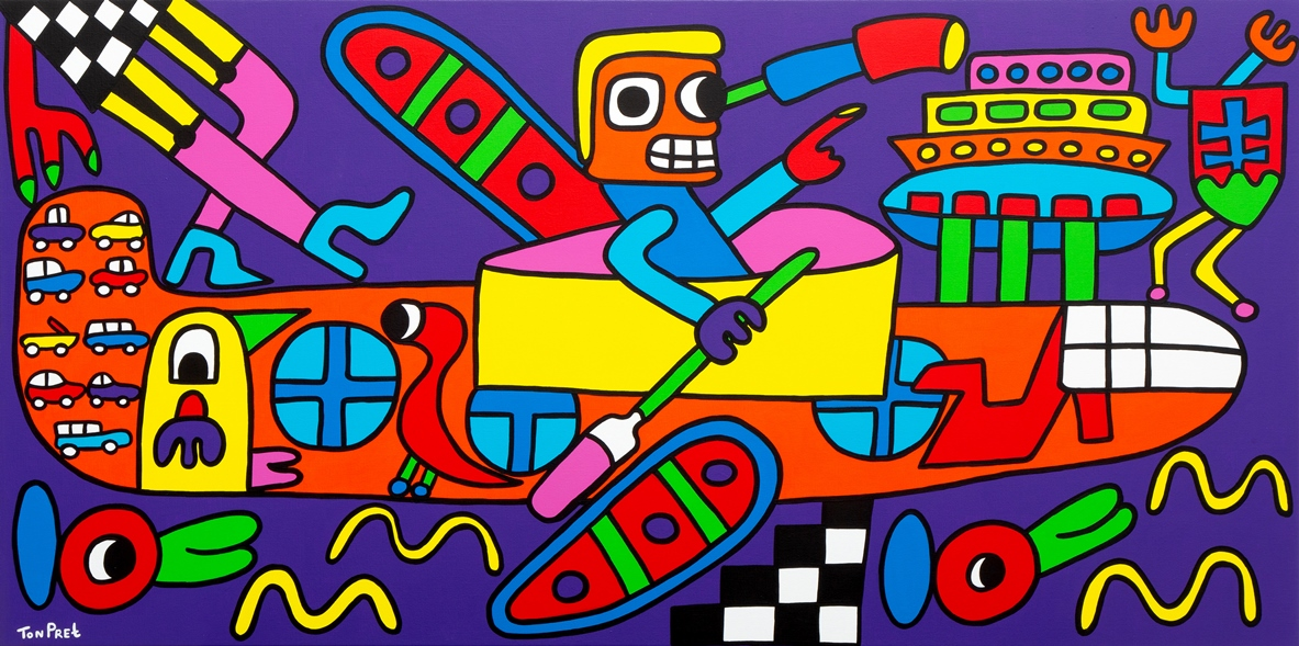 I had a dream and it came true 160cm x 80cm acrylic on canvas