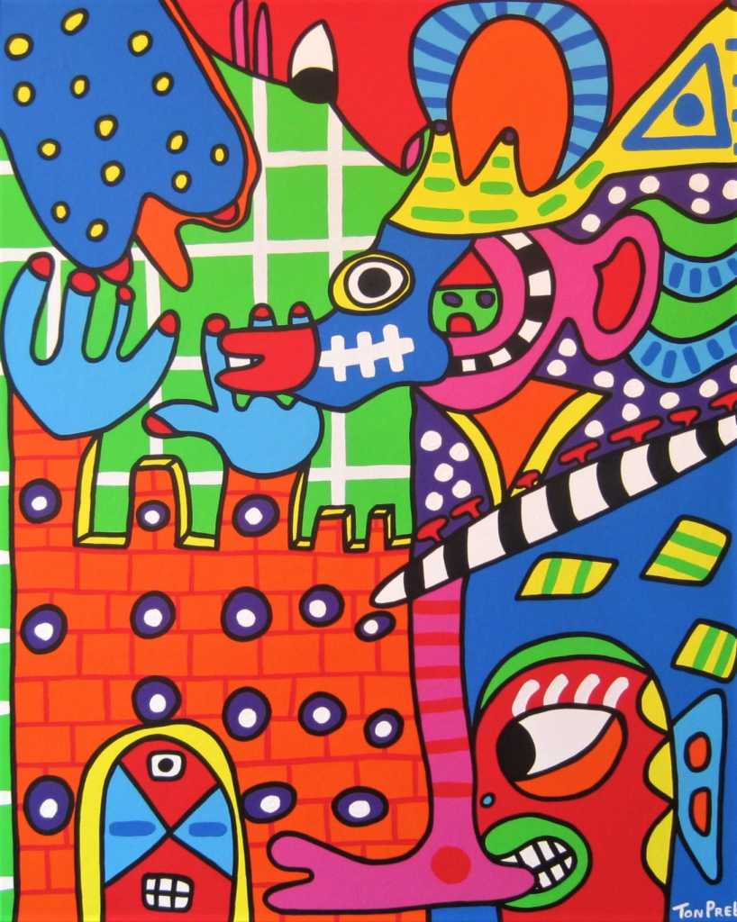 King and castle 80cm x 100cm acrylic on canvas SOLD