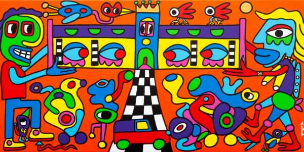 Our relation is build on love and equality 160cm x 80cm acrylic on canvas