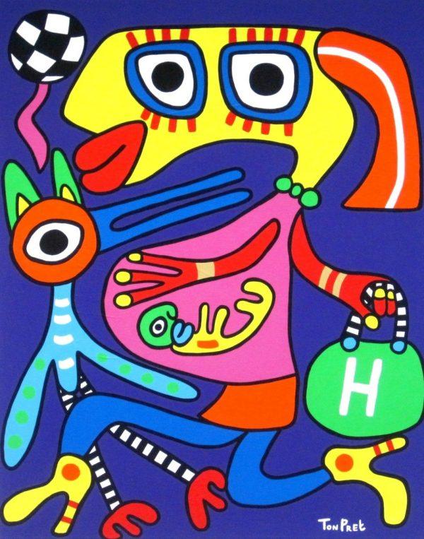 Vidavita in commission 80cm x 100cm acrylic on canvas SOLD