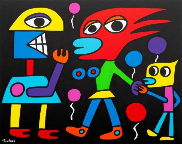 Yes I am your daddy 100cm x 80cm acrylic on canvas