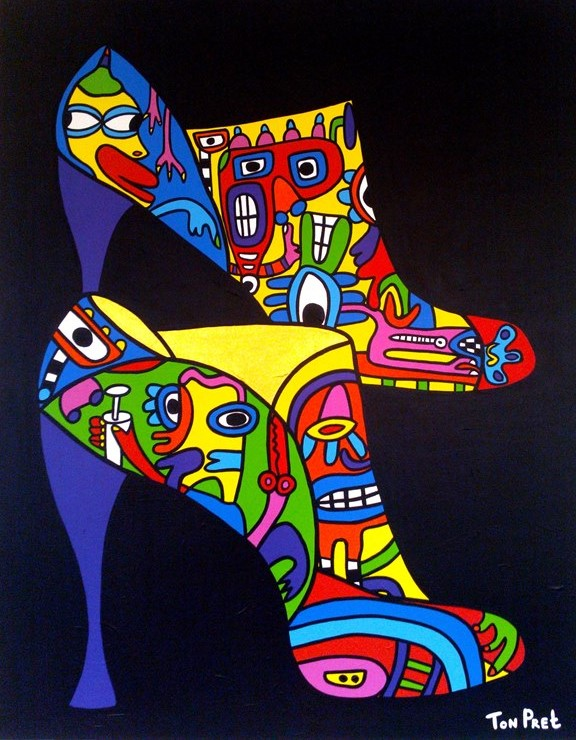 Art step in the world of fashion 80cm x 100cm acrylic on canvas SOLD
