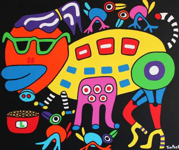 I am a pig so what 120cmx100cm acrylic on canvas sold