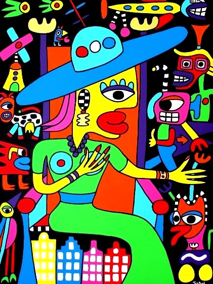 Maxima queen of Holland 120cm x 160cm acrylic on canvas SOLD