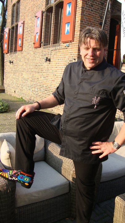 Ton Pret art shoes for the famous master chef Jonnie Boer.
