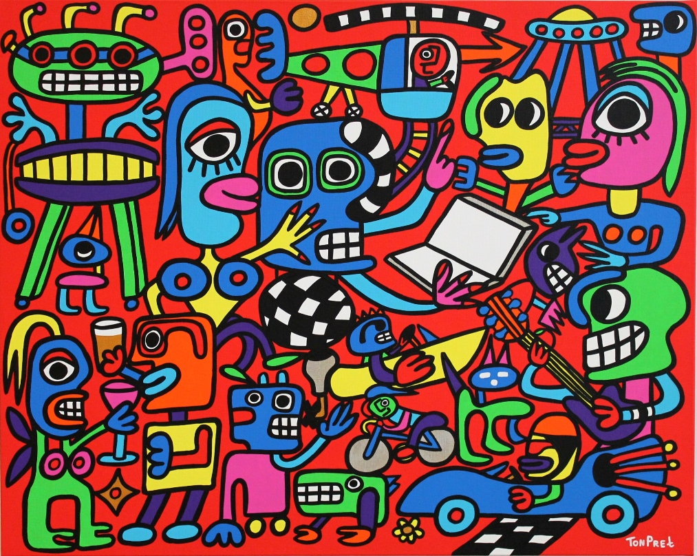 I want it all, in commission for chief editor Pravda Newspaper 100cm x 80cm acrylic on canvas SOLD