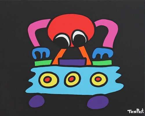 Mr.TonTon Trance 50cm x50cm SOLD
