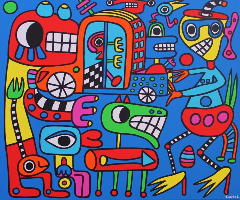 Step into another dimension 120cm x 100cm acrylic on canvas
